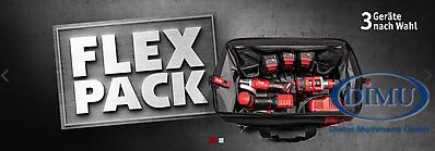 3 Geräte*-3 Akkus-1 Ladegerät FLEX-PACK