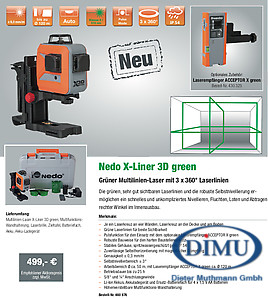 X-LINER 3D green 3x360° Laserlinien